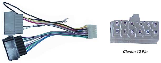 clarion 12 pin replacement radio wiring harness