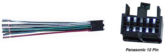 tune town car audio replacement radio wiring harness panasonic 12 pin replacement radio wiring harness